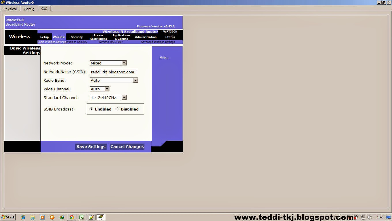 how to connect laptop to wireless router in packet tracer