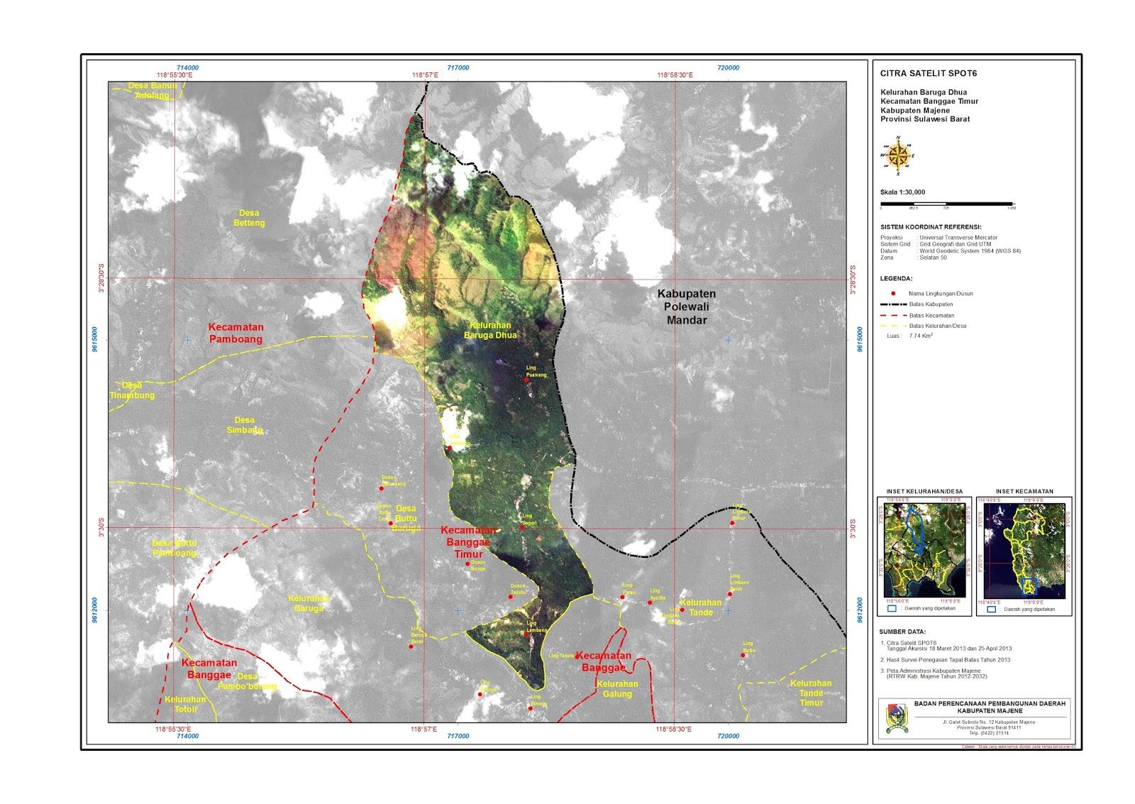 Majene: PETA DESA/KELURAHAN KECAMATAN BANGGAE TIMUR