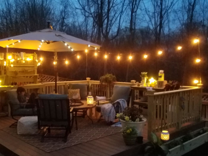 10 Great Deck Lighting Ideas For Your Outdoor Patio: How To Hang String Lights On Deck