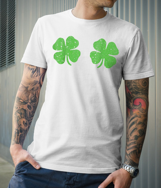 Irish Shamrock Boobs Saint St Patricks Paddys Day T-Shirt Hoodie Sweatshirt