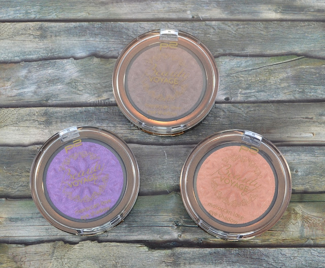 P2 beauty voyage LE P2 beauty voyage LE moroccan love eye shadows 010 mesmerising sun, 020 vivid splash, 030 beige sand