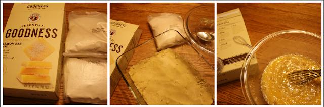 Making King Arthur Flour Lemon Bars