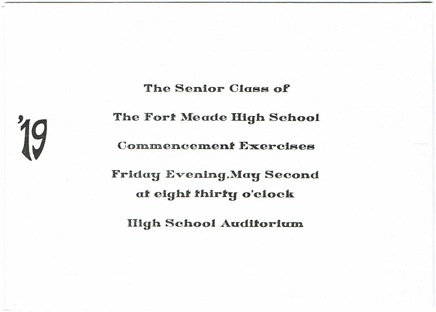 Sample High School Commencement Program