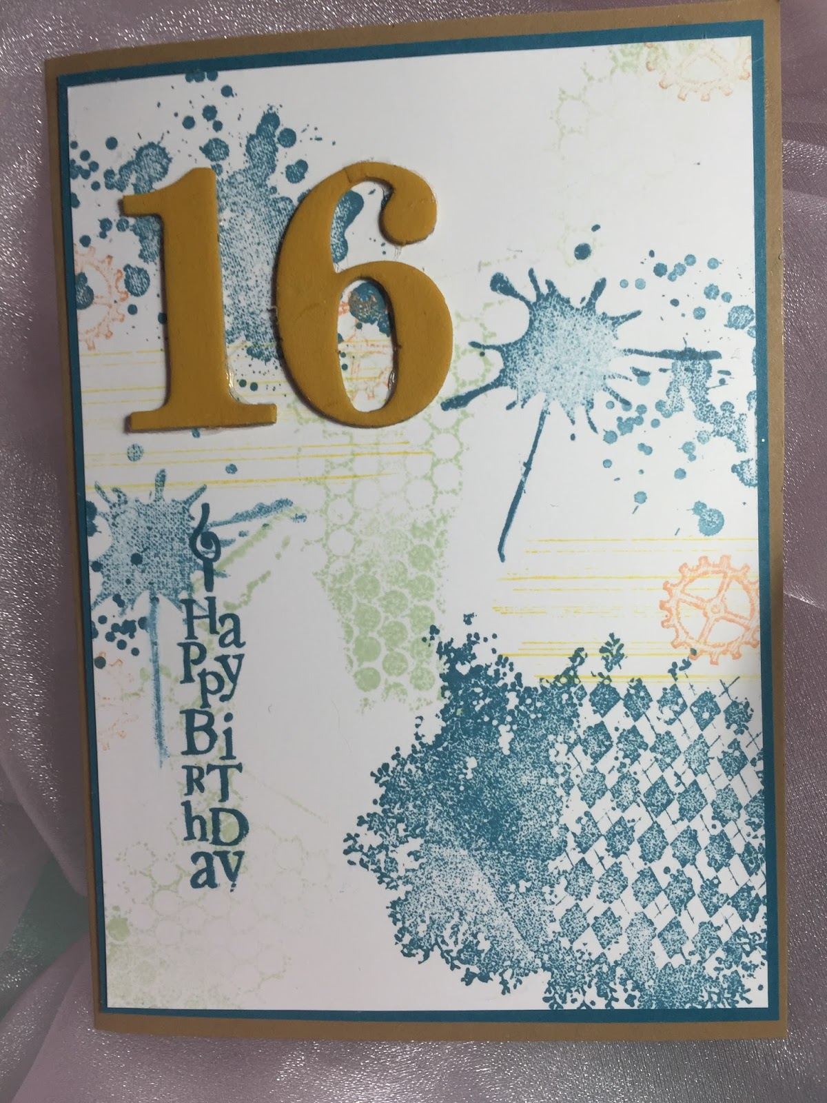 The Number 16 Was Made Using Chipboard Pieces From Kaisercraft And Painting With Acrylic Paint Cardbase Kraft Cardstock So A Vintage
