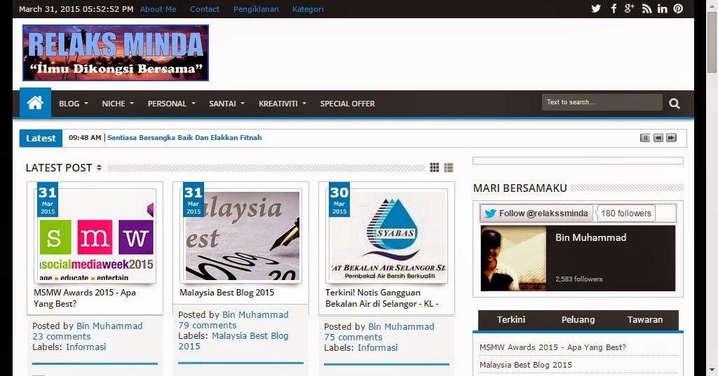 Malaysia Best Blog 2015