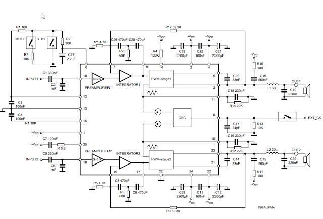TDA7490 Audio Amplifier 2x25W