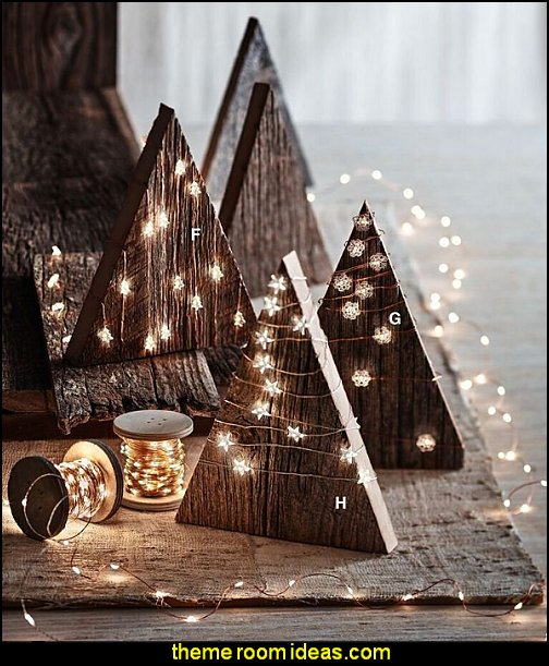 Holiday Shapes LED Lights Rustic Christmas decorating ideas - rustic Christmas decorations - Vintage - Rustic - Country style Christmas decorating - rustic Christmas decor - Christmas stockings