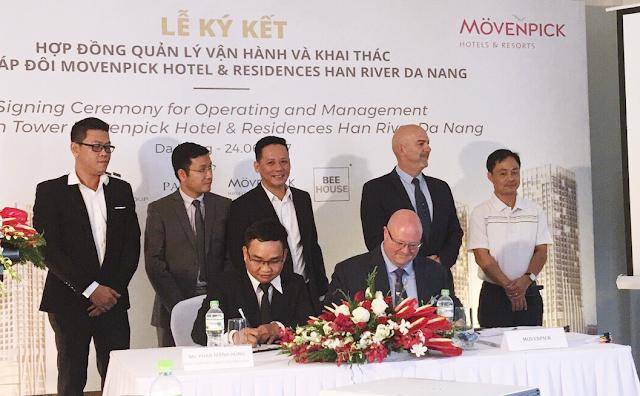 Lễ ký kết hợp đồng hợp tác và khai thác dự án Movenpick Han River Đà Nẵng