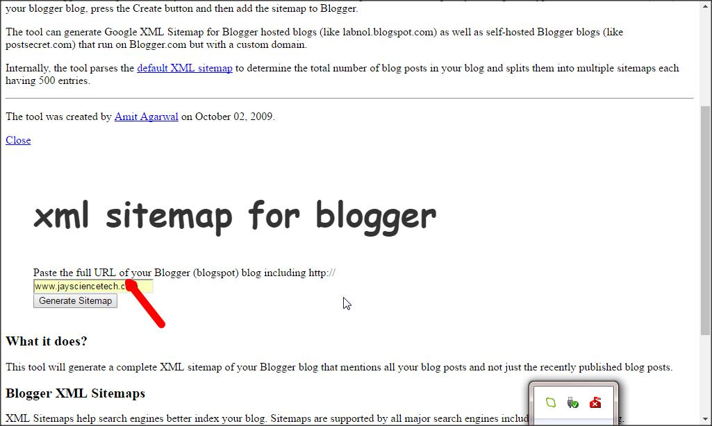 how to add a google sitemap to your blogger blog science and tech