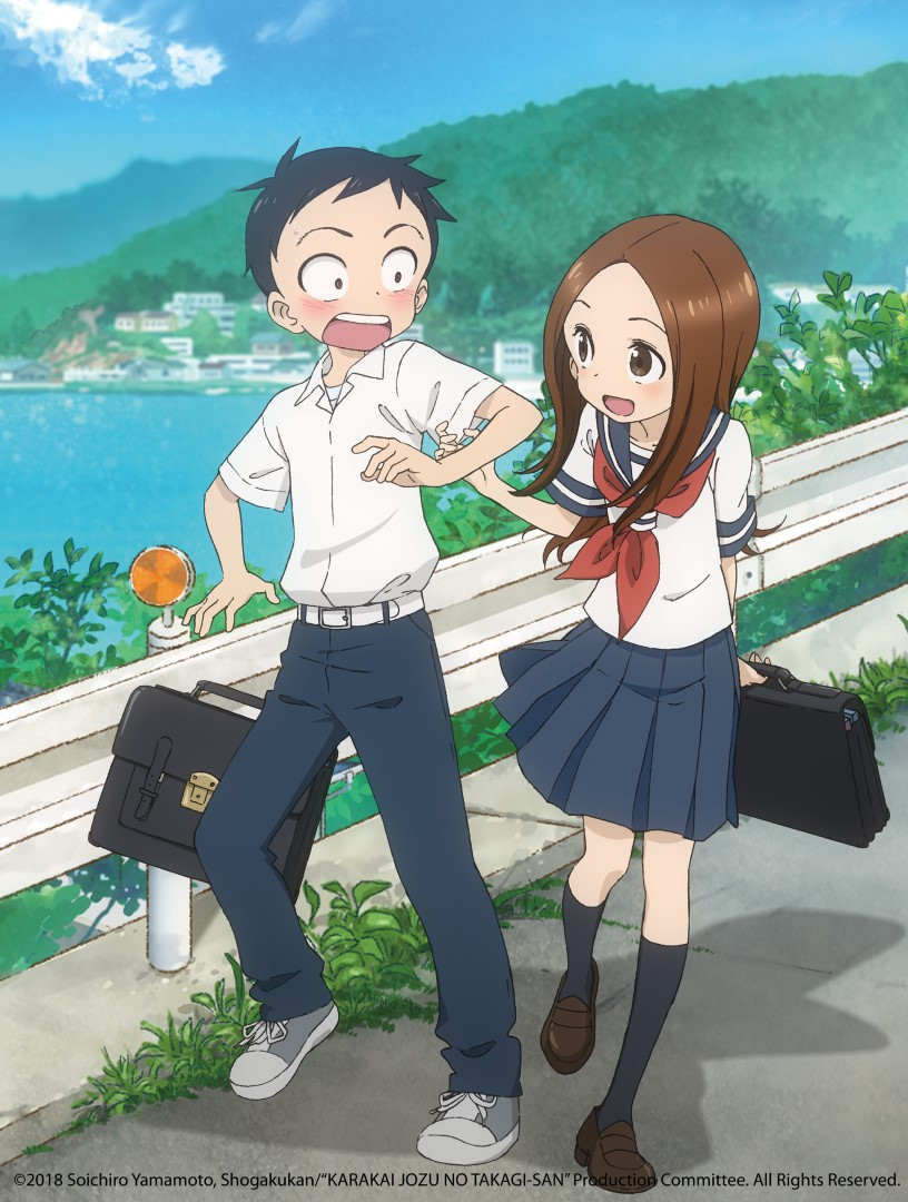 Middle School Student Nishikata Suffers Constant Humiliation At The Hands Of Takagi His Classmate Who Sits Next To Him And Loves Teasing