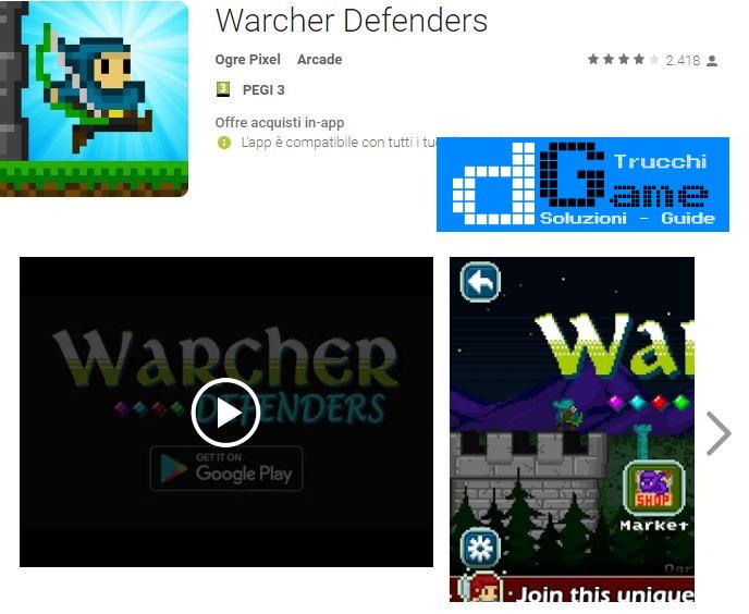 Trucchi Warcher Defenders Mod Apk Android v1.0
