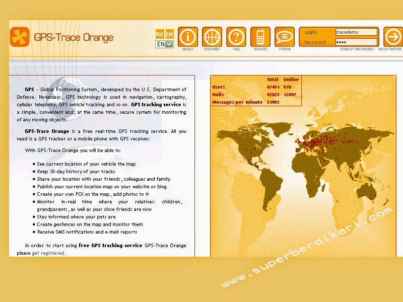 server online gps tracker