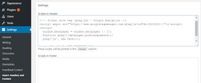 Cara Pasang Kode Google Analytics di WordPress