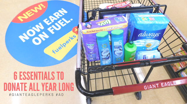 6 Essentials to Donate All Year Long #GiantEaglePerks #AD