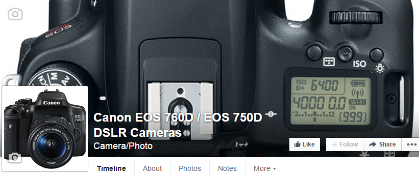 Visit / Like the rumored Canon EOS 760D / EOS 750D  DSLR Facebook Page
