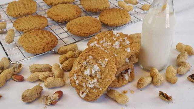 Galletas tres ingredientes con mantequilla de cacahuete