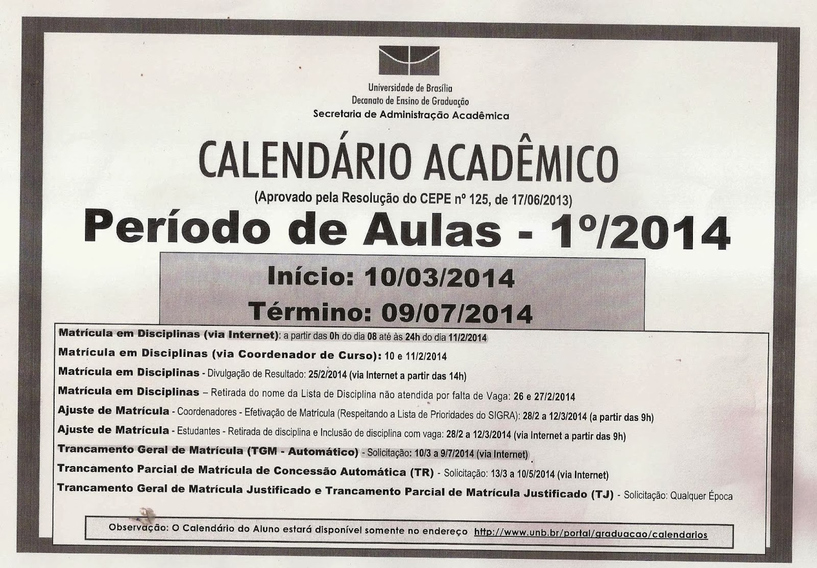 Calendario Uab.Polo Barretos Uab Calendario Academico Unb
