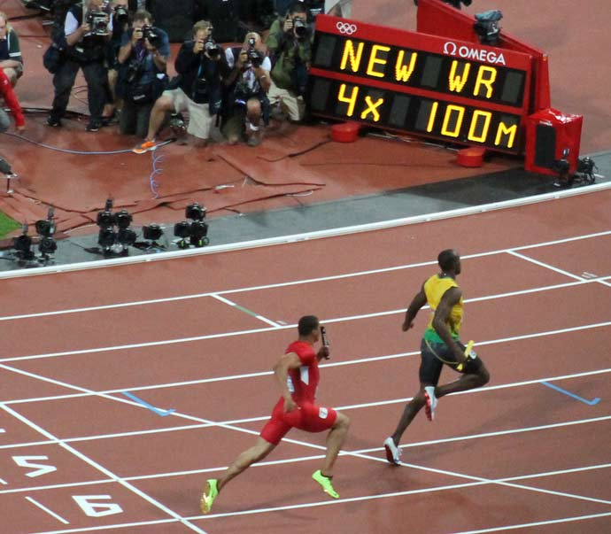 London Olympics 2012 #3:  Usain Bolt and Jamaica set the new 4x100m world record