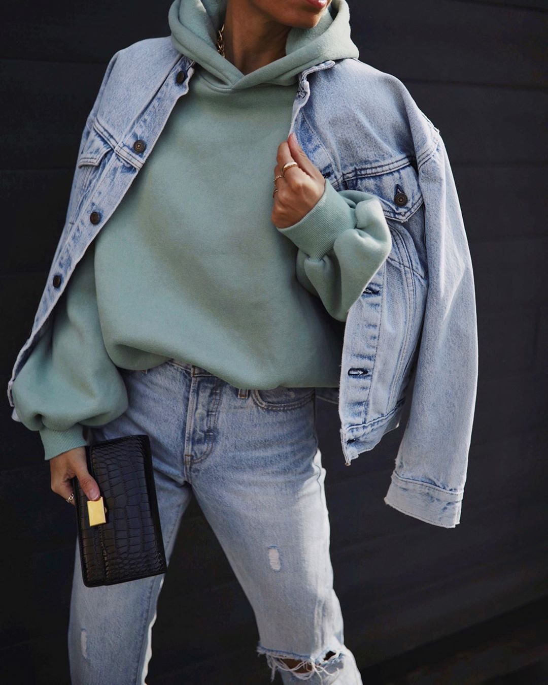 This Double Denim Outfit Looks Stylish and Relaxed