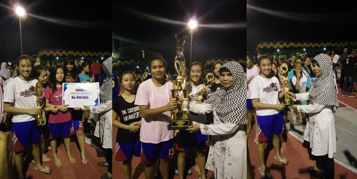 Tim Basket Putri SMP Kristen Kalam Kudus Juara 1 SMANSA CUP