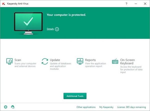 برنامج مكافحة الفيروسات Kaspersky Anti Virus 2016