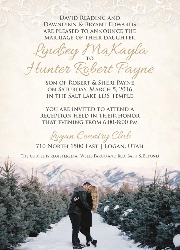 lindsey hunters wedding invitations - Wedding Invitations Utah