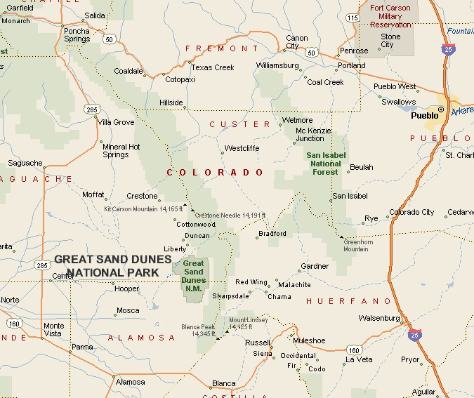 Durango Roadtripping: Colorado's Great Sand Dunes National Park on california national park map, sand flats campground calaveras county, canyons national park map, moon national park map, colorado map, volcanoes national park map, mexico national park map, sand creek colorado, namibia map, river national park map, grasslands national park map, v&t railroad map, black canyon of gunnison map, namib desert map, garden of the gods map,