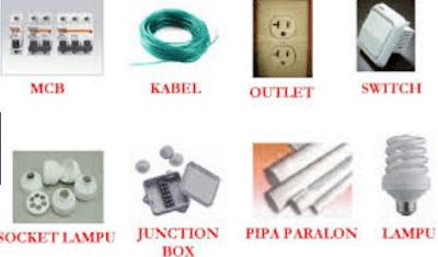 Komponen instalasi listrik Lengkap Simbol dan Fungsinya