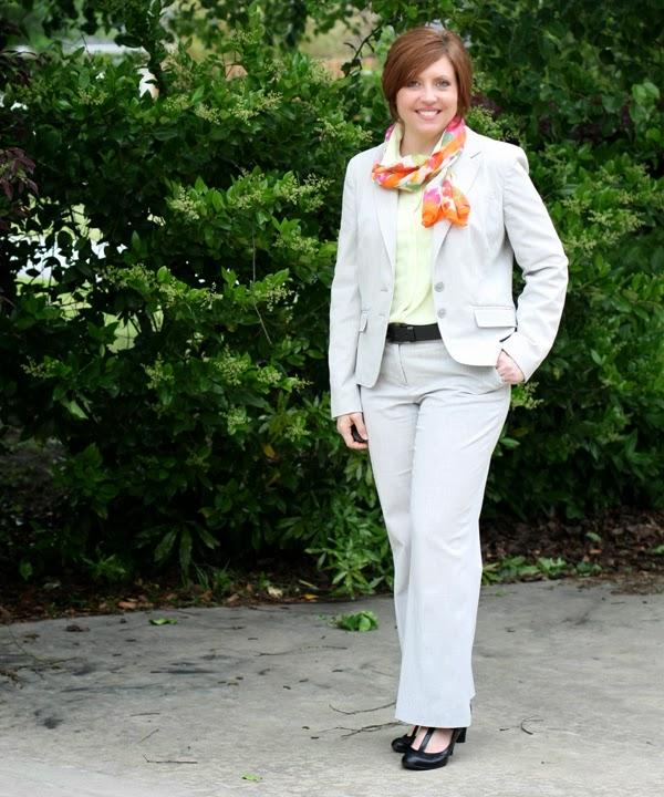 97377f55f6c5 Blazer pants- JCPenney option option option blouse- Loft scarf- Cato option  option shoes- Lifestride via TJMaxx option Worn April 17