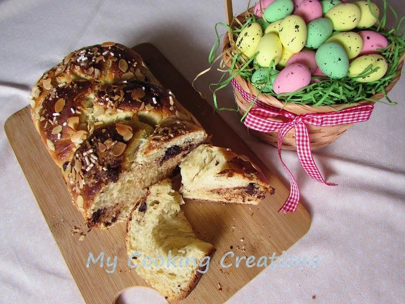 Козуначена плитка със шоколадов чипс * Treccia con gocce di cioccolato