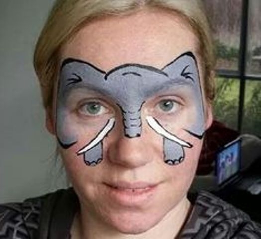 Elephant Face Paint Images