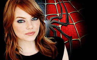 Gwen Stacy Emma Stone Amazing Spider-Man Logo Behind HD Wallpaper