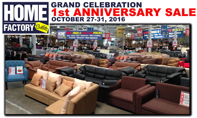 The Home Factory Outlets 1st Anniversary SALE