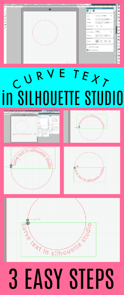 How To Arch Text In Word : Curve, Silhouette, Studio, Tutorial}, School