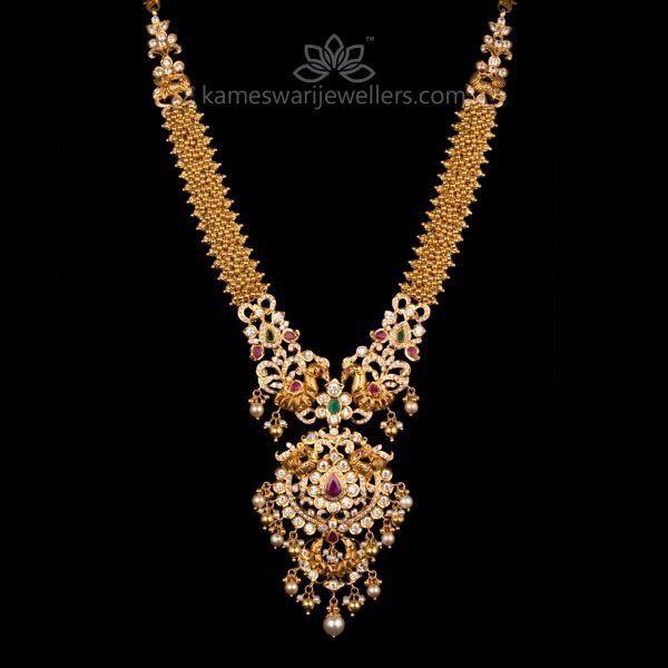 Muvvala Haram by Kameswari Jewellers