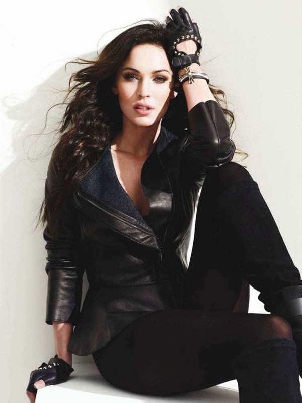 Megan Fox leather celebrityleatherfashions.legends.com