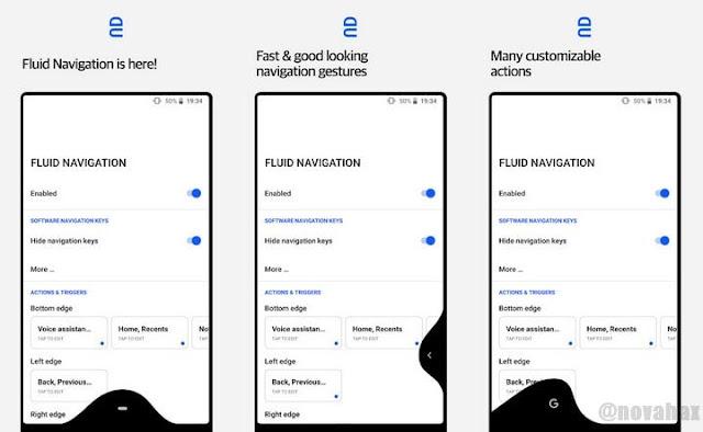 Fluid navigation gestures unreleased apk