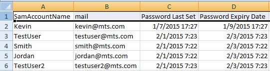 Export AD Users Password Expiration Report to CSV with Powershell