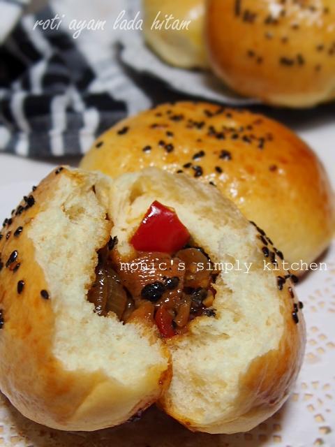 roti ayam lada hitam tanpa ulen