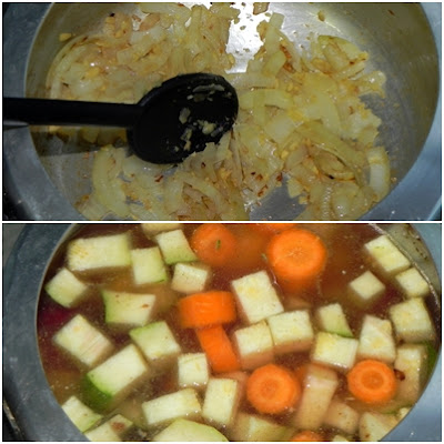 cozinhar sopa de legumes