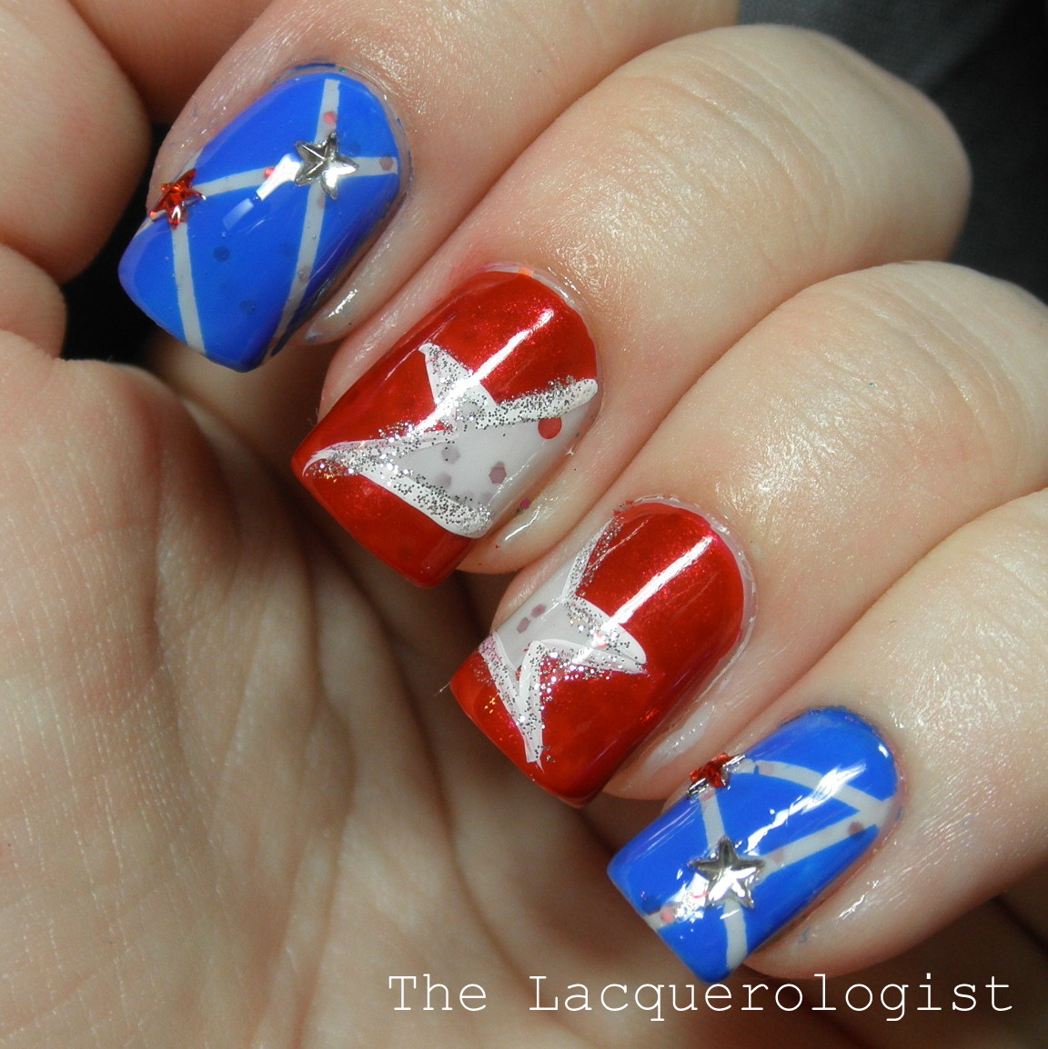 Memorial Day Star Manicure and Tutorial! • Casual Contrast