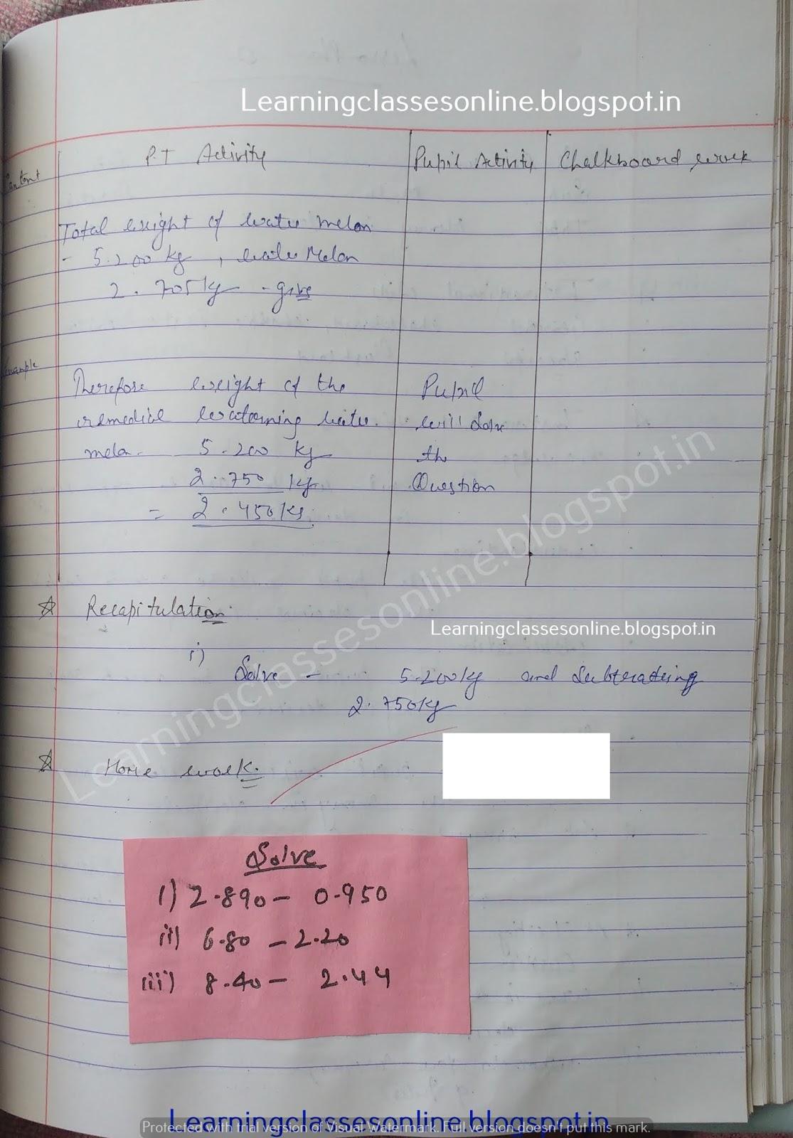 Macro Teaching Lesson Plan Mathematics,