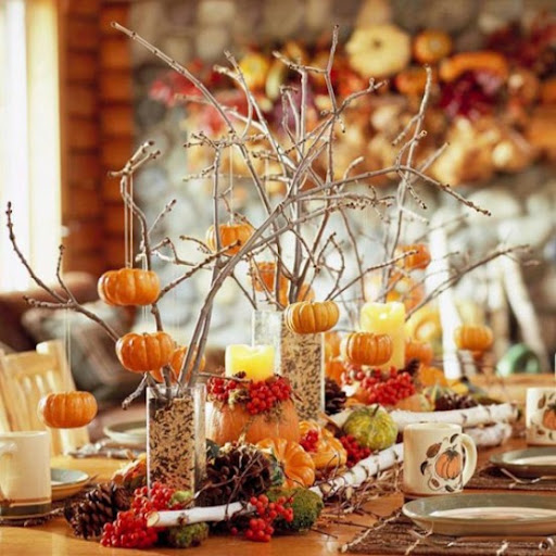 Home Christmas Decoration: Thanksgiving Centerpieces And