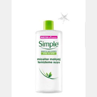 simple makyaj temizleme suyu