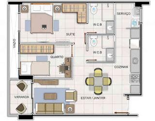 São ótimos estes apartamentos de 2 quartos com suíte Res. Las Brisas