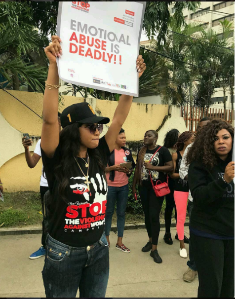 Tonto Dikeh at 1in3women campaign on eventplanner.ng