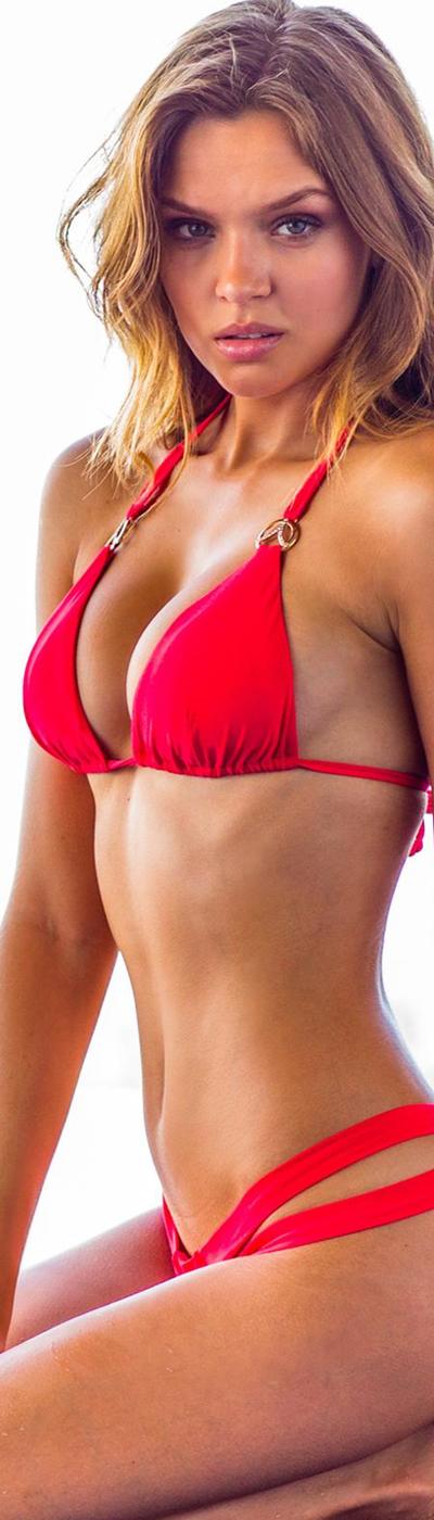 Sauvage Corona Triangle Thong Bikini