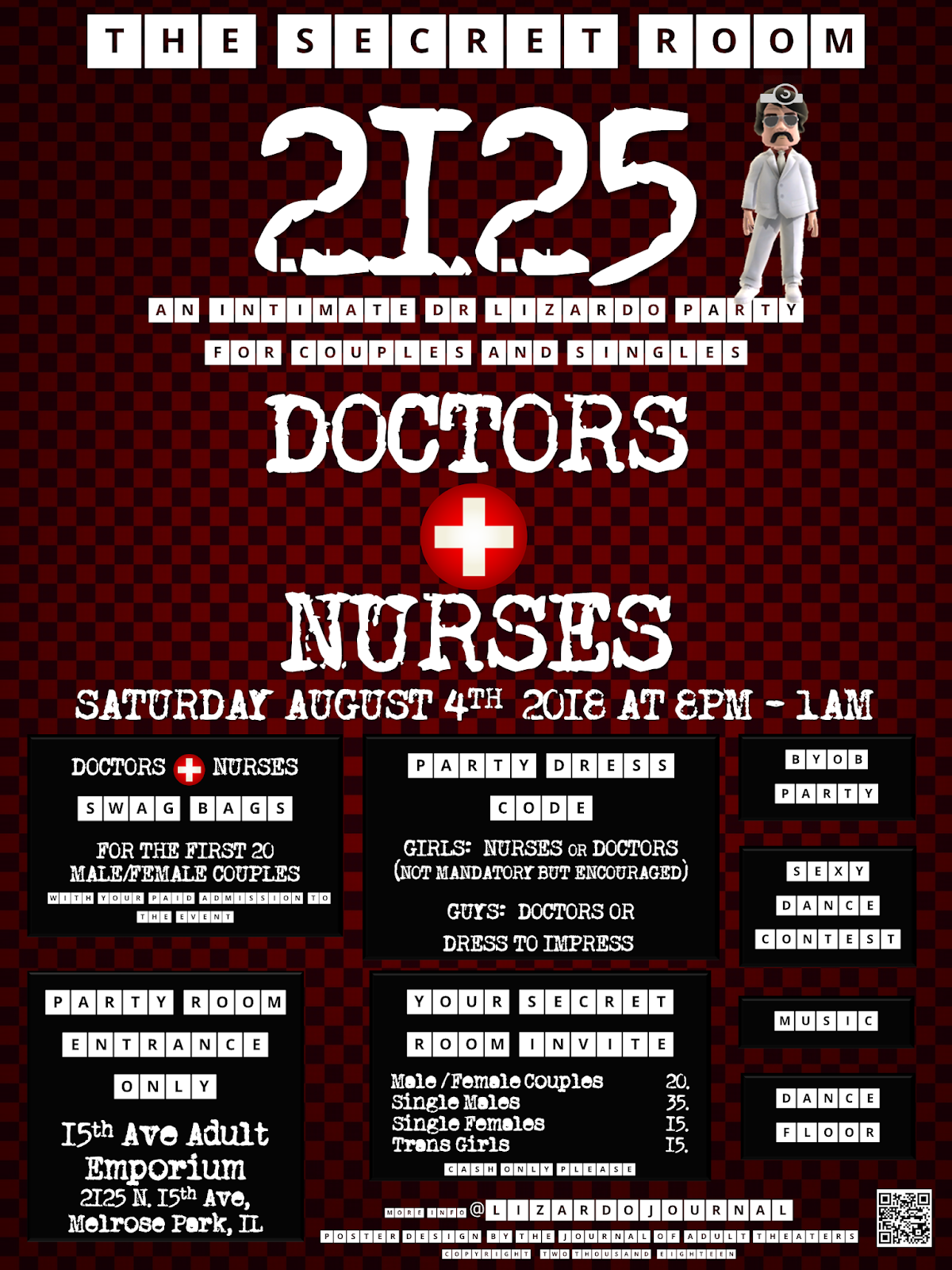 The Secret Room 2125: Docotrs & Nurses Party at 15th Ave. Adult Theater Party Room in Chicago!