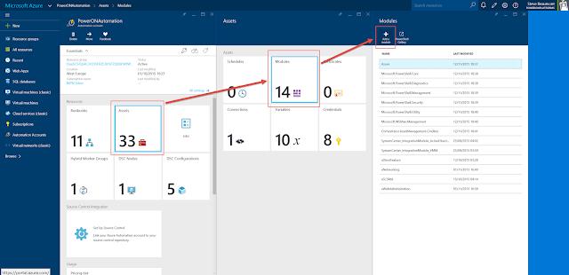 Add Module to Azure Automation