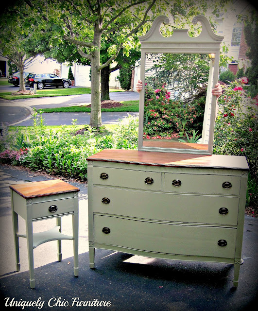 Uniquely Chic Furniture: CL Finds And Sage Green
